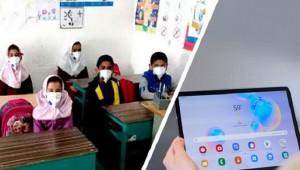 برآورده شدن آرزوی بچههای روستایی در ۱۵ کیلومتری کویر طبس به همت خیرین مدرسه ساز