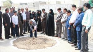  اغاز ساخت عملیات 4 مدرسه خیرساز در شهرستان جیرفت