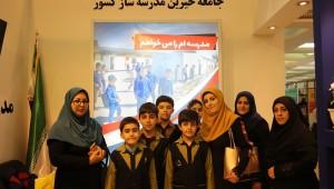 حال و هوای غرفه خیرین مدرسه ساز در هفتمین روز نمایشگاه بین المللی کتاب تهران