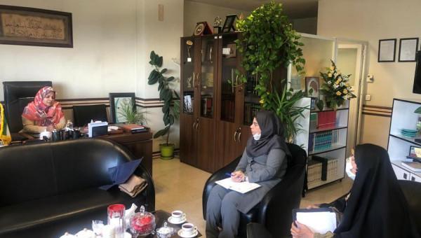 نشست  كميسيون بانوان جامعه خيرين مدرسه ساز كشور  با  مديركل امور زنان و خانواده استانداري تهران